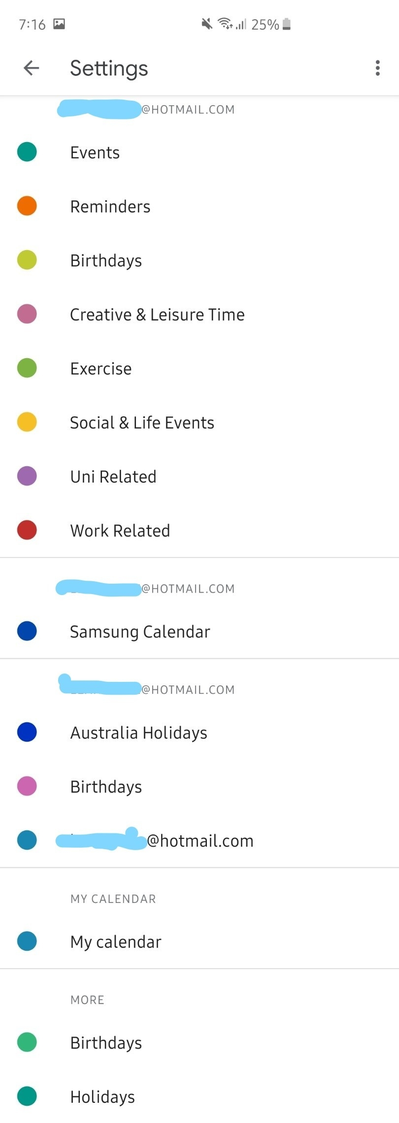 Can't Delete/edit Certain Duplicate Calendars And Names Don-Holidays Listed Twice In Google Calender