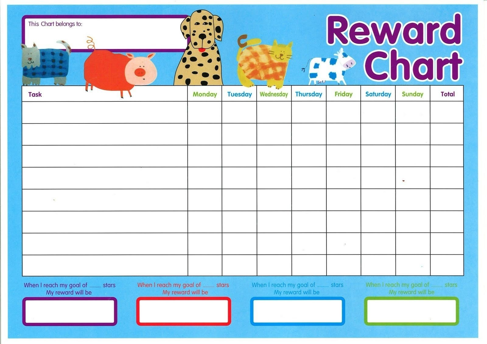Childrens Reward Charts Printable - Remar-Monthly Behavior Charts Printable