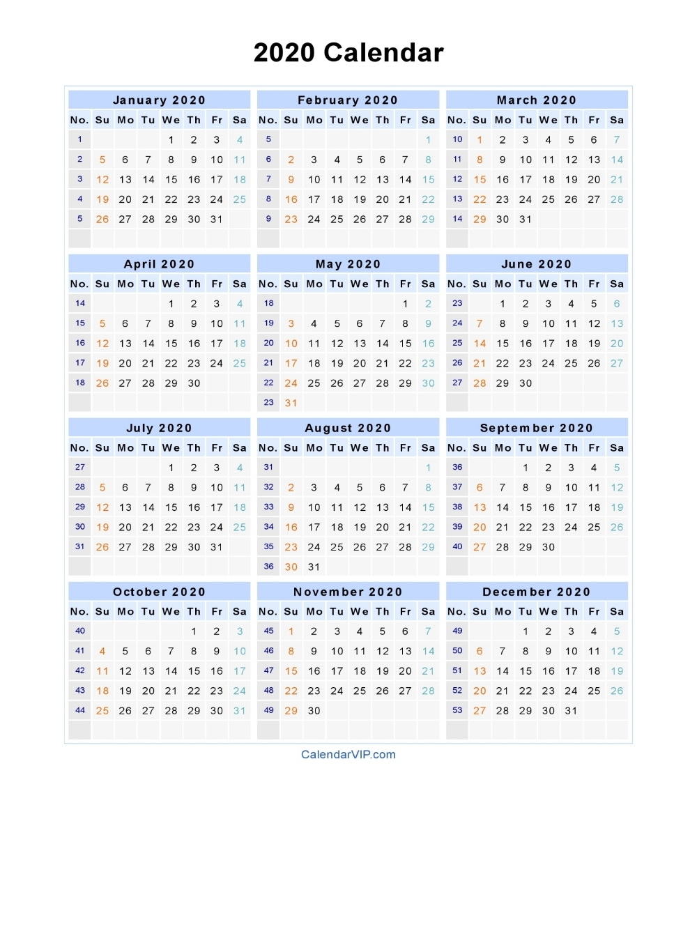 Dashing 2020 Calendar With Week Numbers | Printable Calendar-Financial Calendar Template Australia 2020-2020