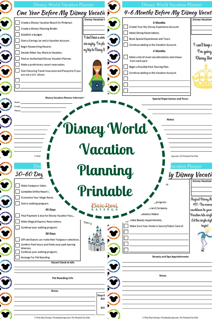 Disney Vacation Planner Template | Calendar For Planning-Disney World Touring Template Download