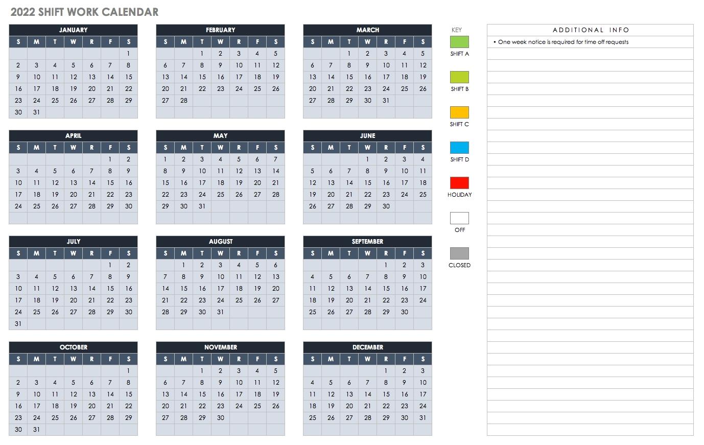 Free Excel Calendar Templates-Payroll Calendar Template 2020