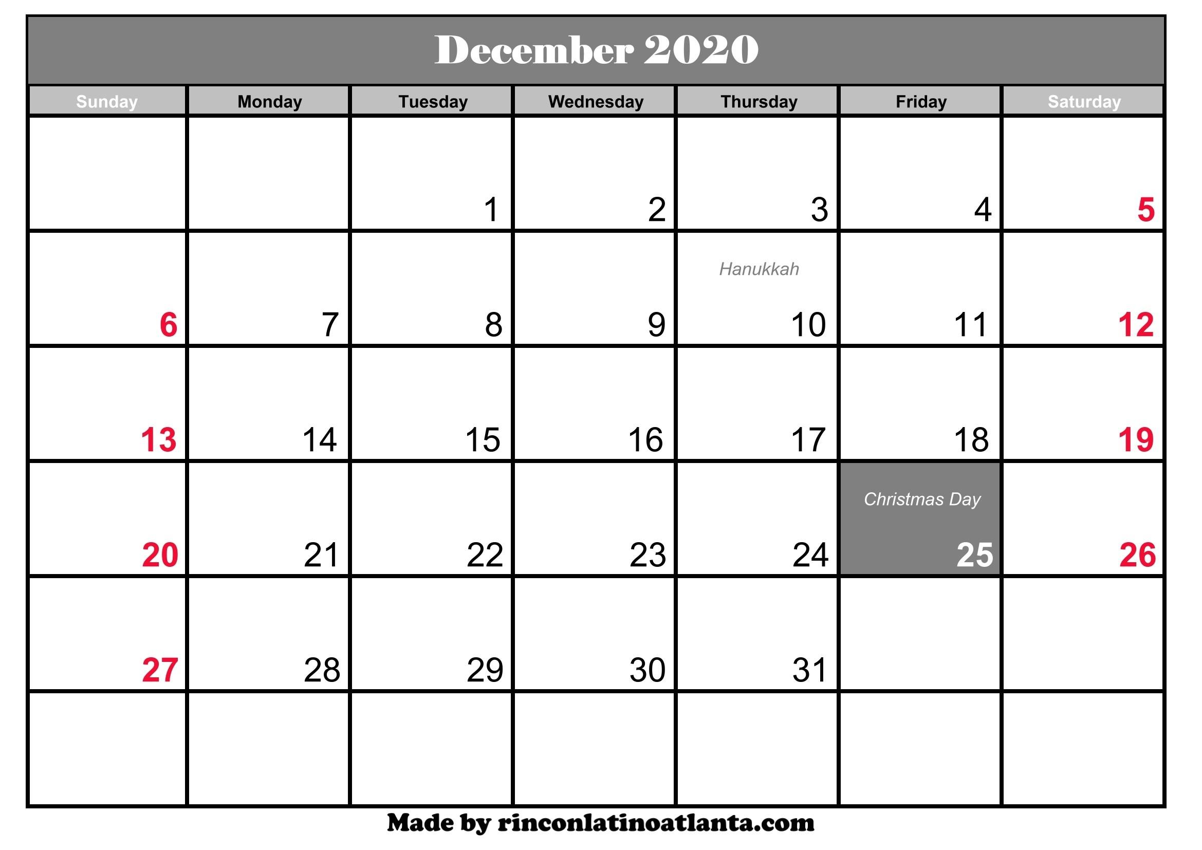 Free Printable 2020 2020 Calendar - Baeti-Printable Monthly Calendar Templates Uk
