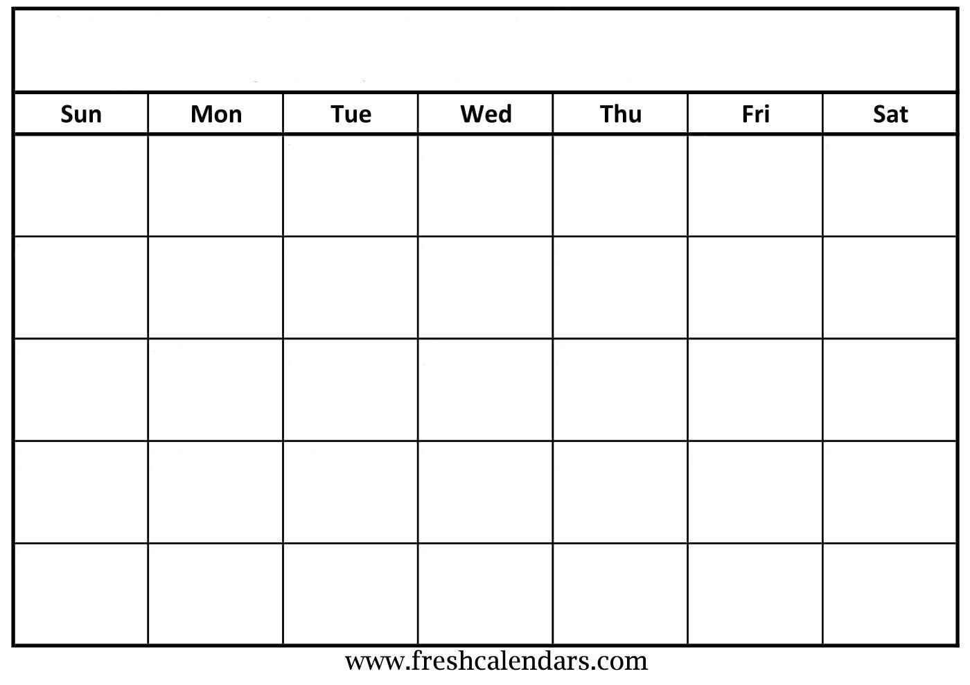 Free Printable Blank Calendar Grid | Monthly Printable Calender-Blank Calendar Grid Printable