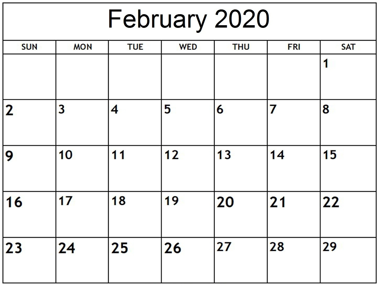Free Printable February 2020 Calendar Uk With Holidays-Blank 2020 Calendar Uk Printable