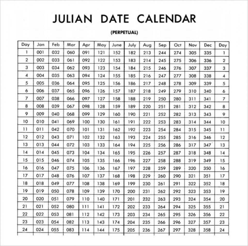Free Printable Julian Calendar 2020 Blank Template-Monthly Calendar With Julian Dates