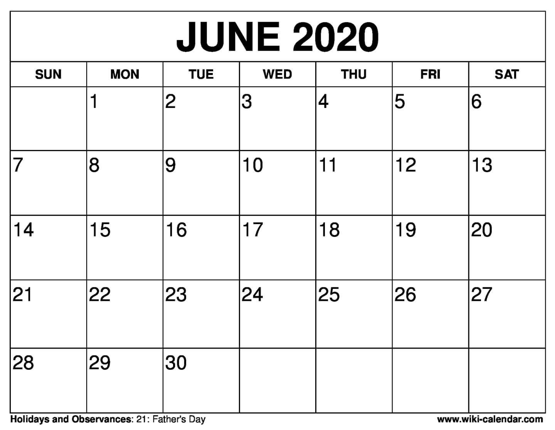 Free Printable June 2020 Calendars-July 2020 Large Claendar Template