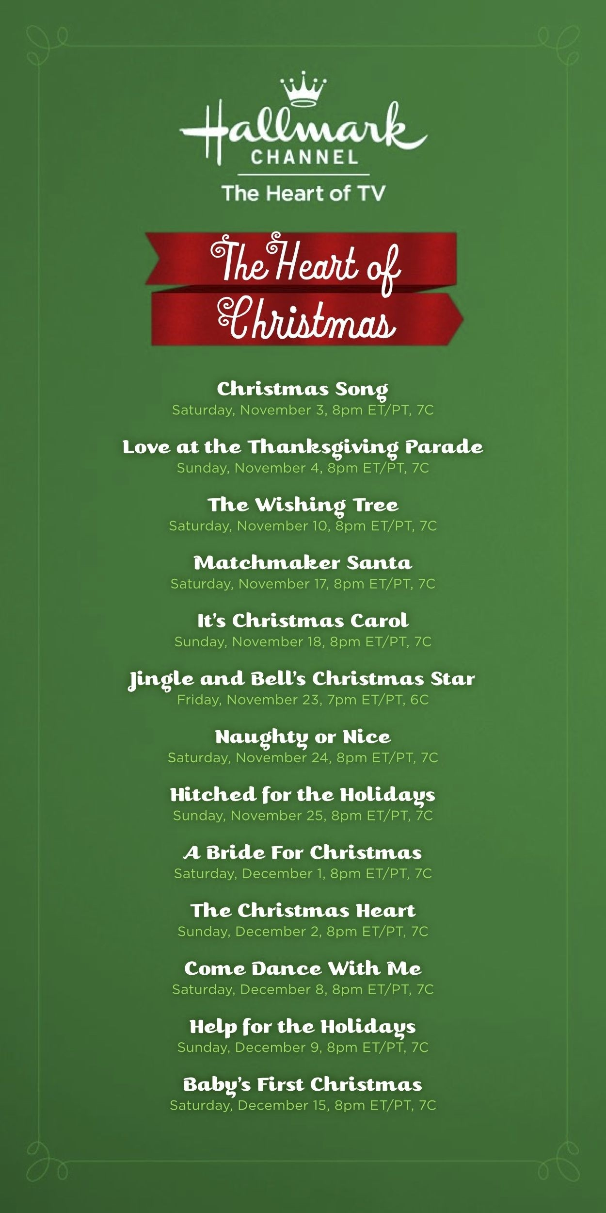 Holiday Movie Lineup On The Hallmark Channel | Holiday Movie-What Are Hallmark Holidays