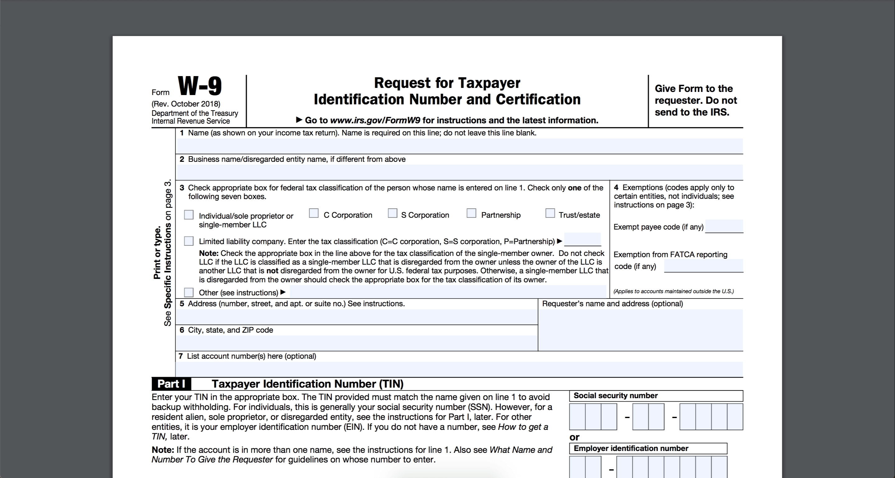 How To Fill Out And Sign Your W-9 Form Online-Blank Printable W9 Form