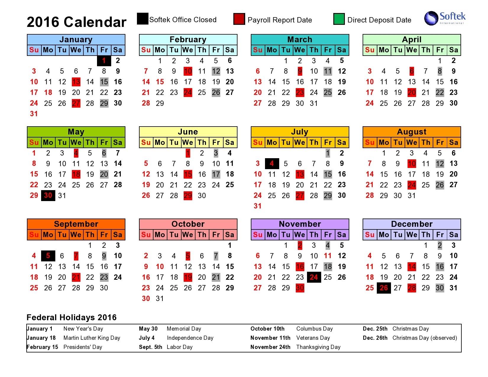 Intuit Payroll Holiday Calendar 2020 | Payroll Calendar 2020-Payroll Calendar Template 2020