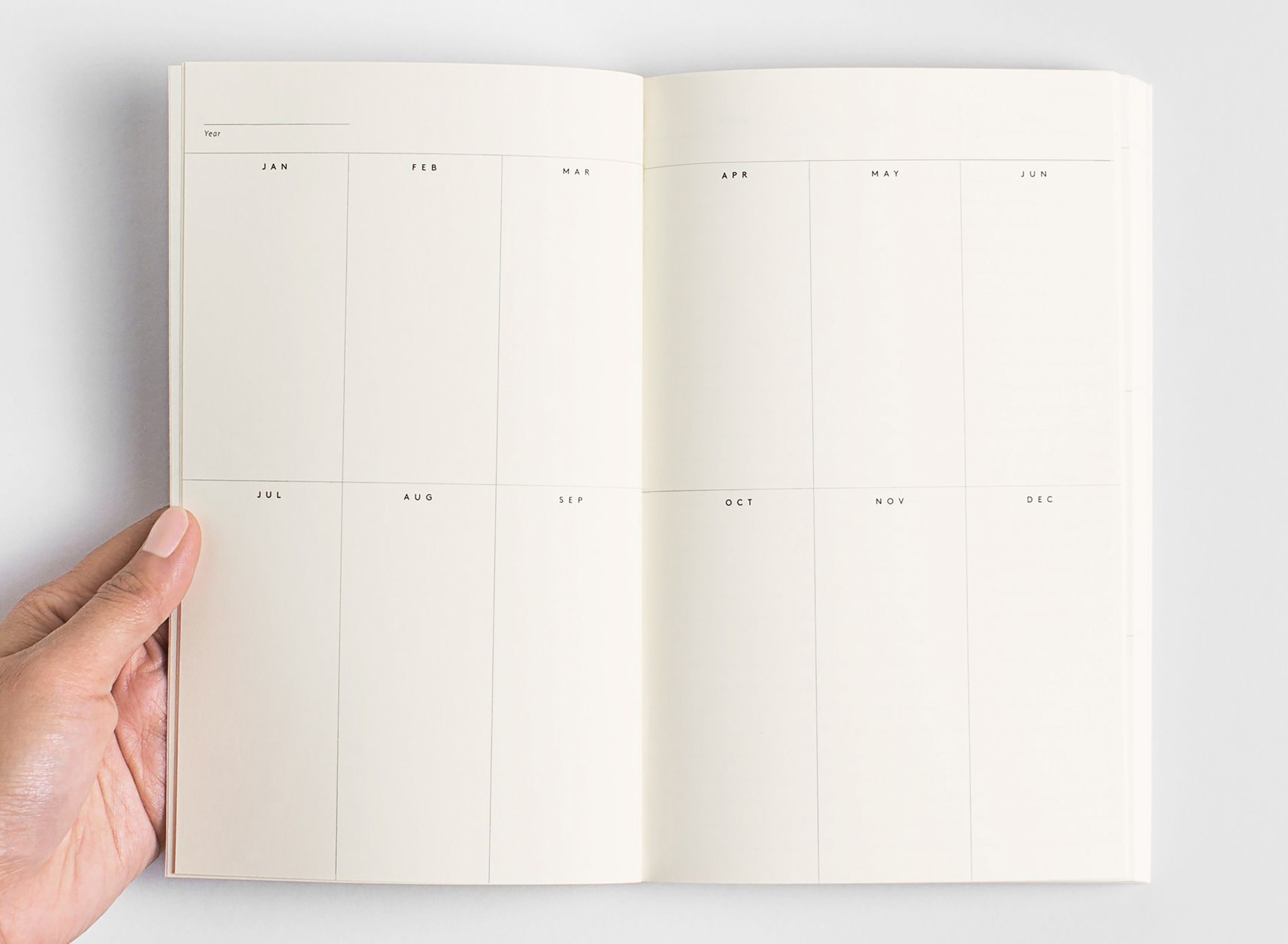 Julia Kostreva - Any-Year Daily Planner – Volta-Notebook With Monthly Calendar