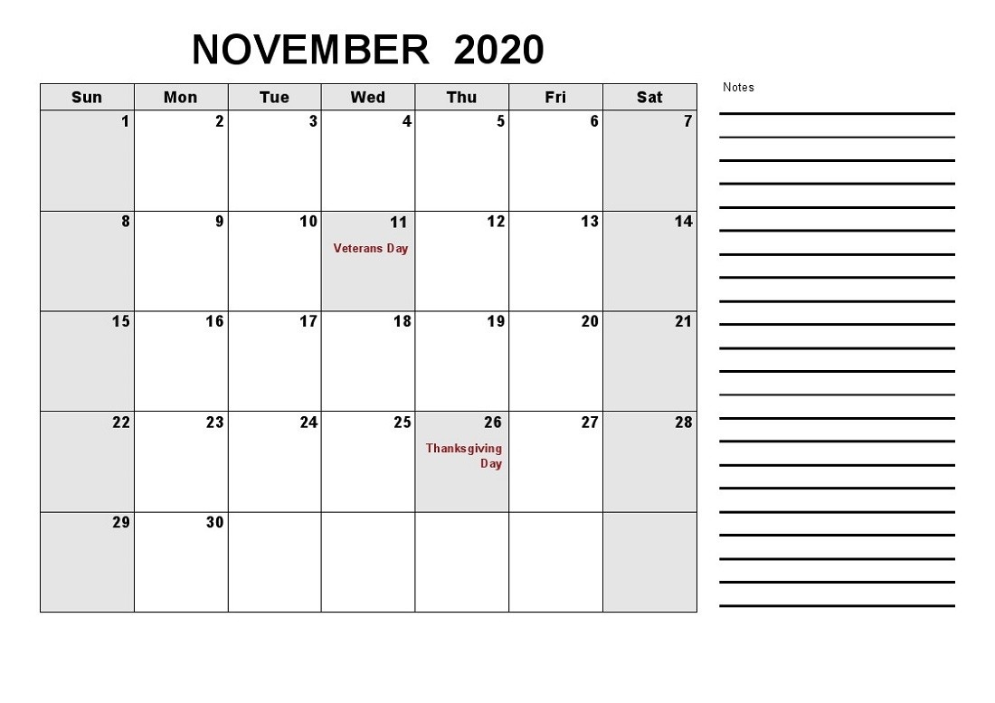 Large Monthly Calendar Printable 2020 With Notes | Calendar-Calendar Labs Monday Start Monthly Calendar