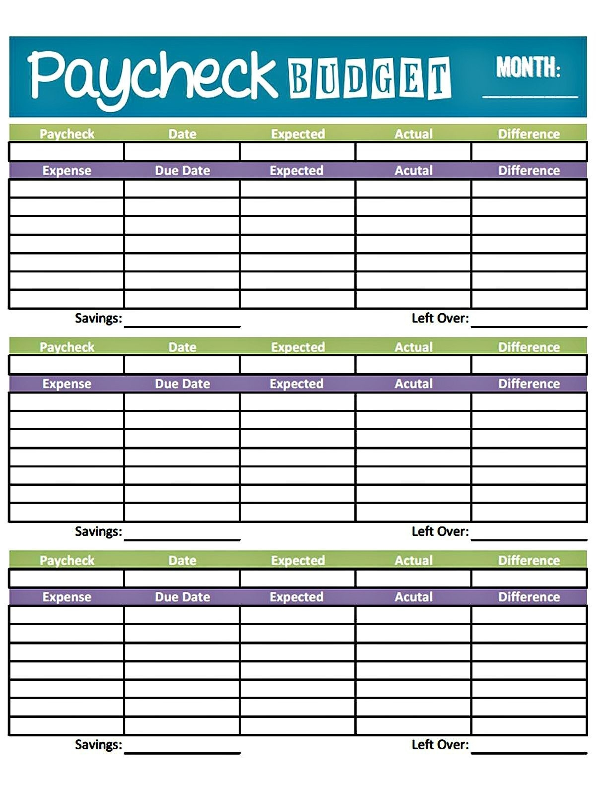 Livin' Paycheck To Paycheck - Free Printable Budget Form-Schedule Biweekly Templates Free Printable