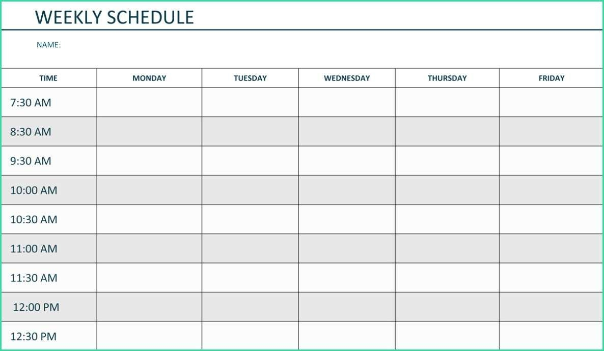 Monday To Friday Calendar - Baeti-Monday To Friday Word Template