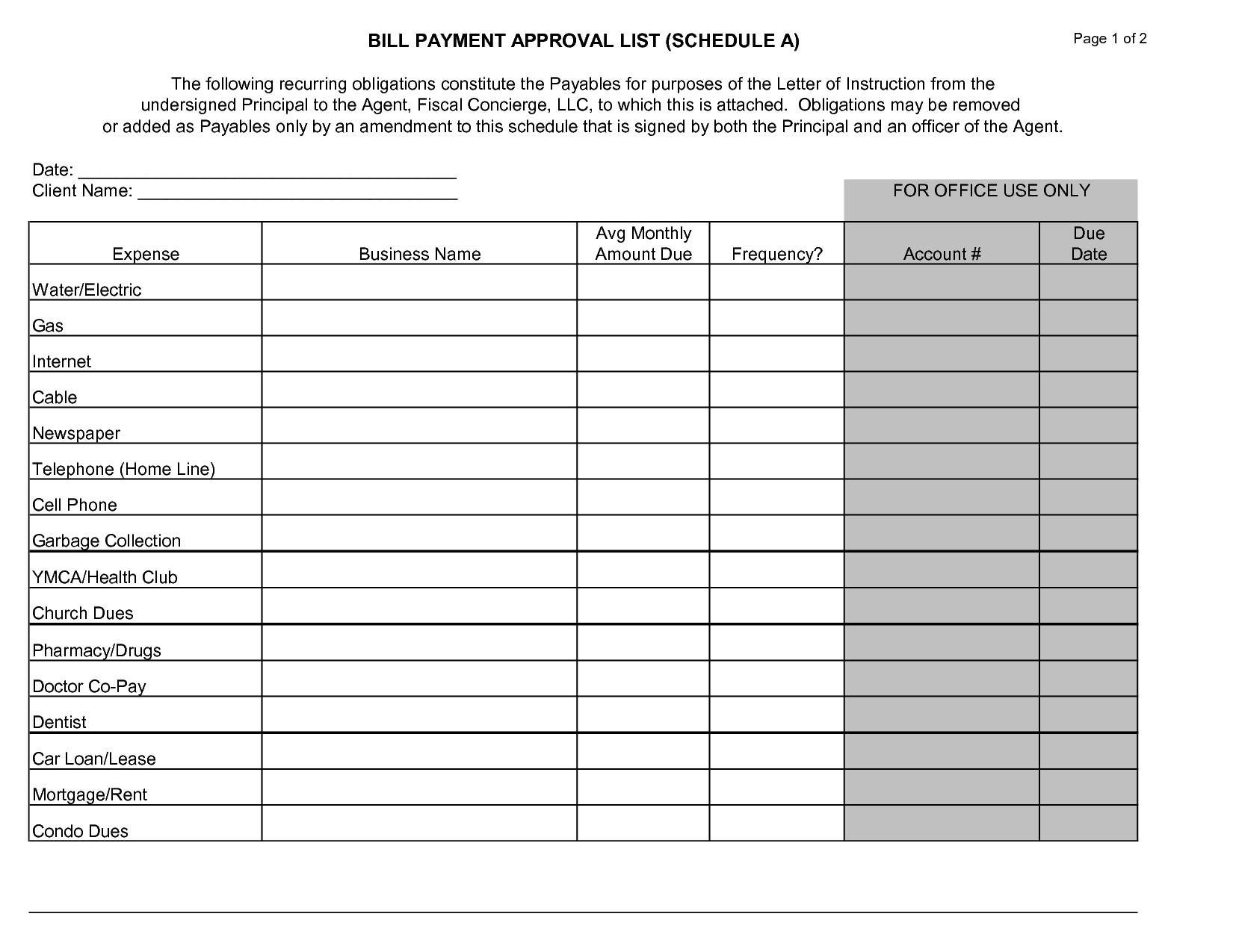 Monthly Payment Worksheet Template | Printable Worksheets-Monthly Bill Pay Calendar Printable
