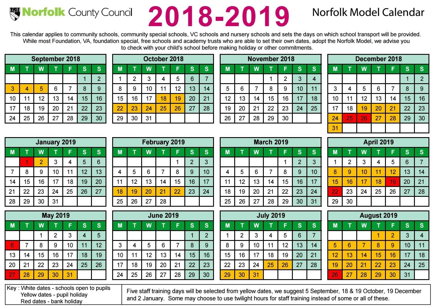 Ncc 2018 19 Term Dates By Shs16 - Issuu-School Holidays Nz Calendar