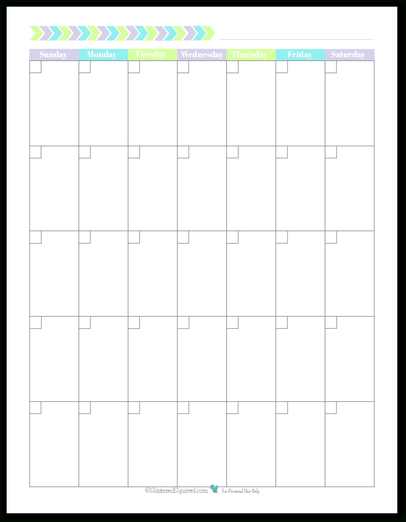 New Planner Printables {Reader Request} | Printable Planner-Monday To Friday Printable Monthly Calendar