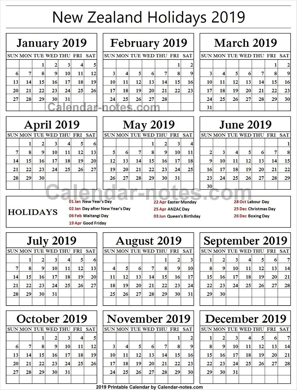 New Zealand Holiday 2019 Calendar | Philippine Holidays-School Holidays Nz Calendar