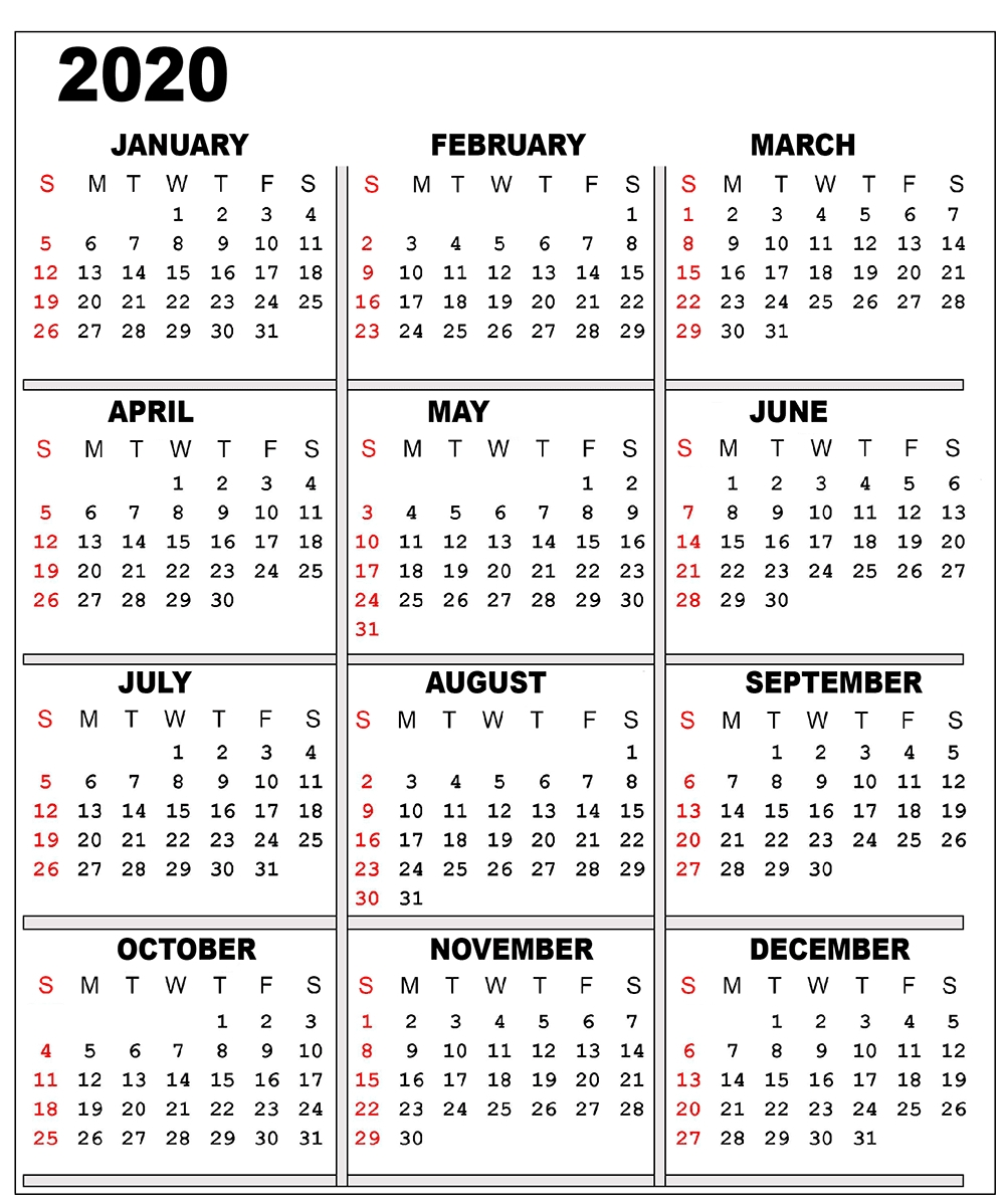 Page 3 Calendar 2020 | Calendar Printables Free Templates-2 Page Calendar Printable Template 2020