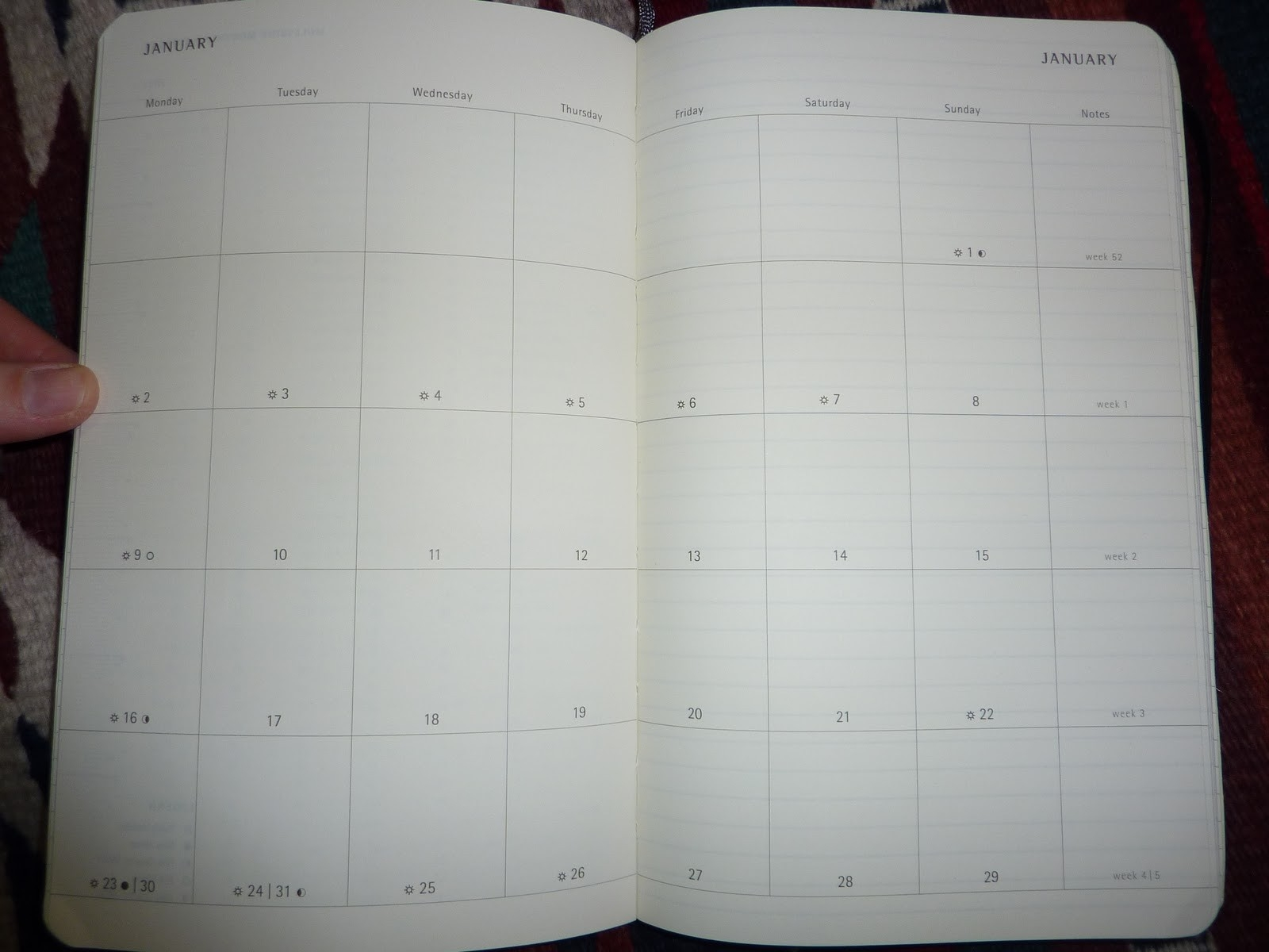 Plannerisms: 2012 Moleskine Monthly Notebook-Notebook With Monthly Calendar