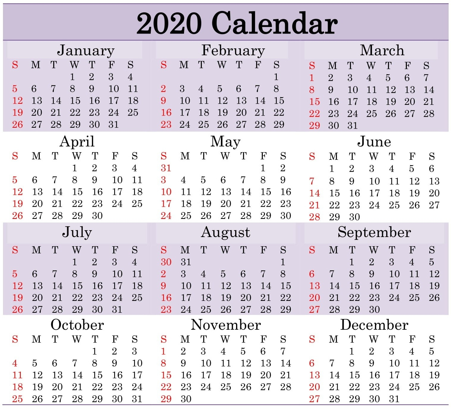 Printable 2020 Calendar Word Document - Latest Printable-Monthly Calendar With Julian Dates 2020