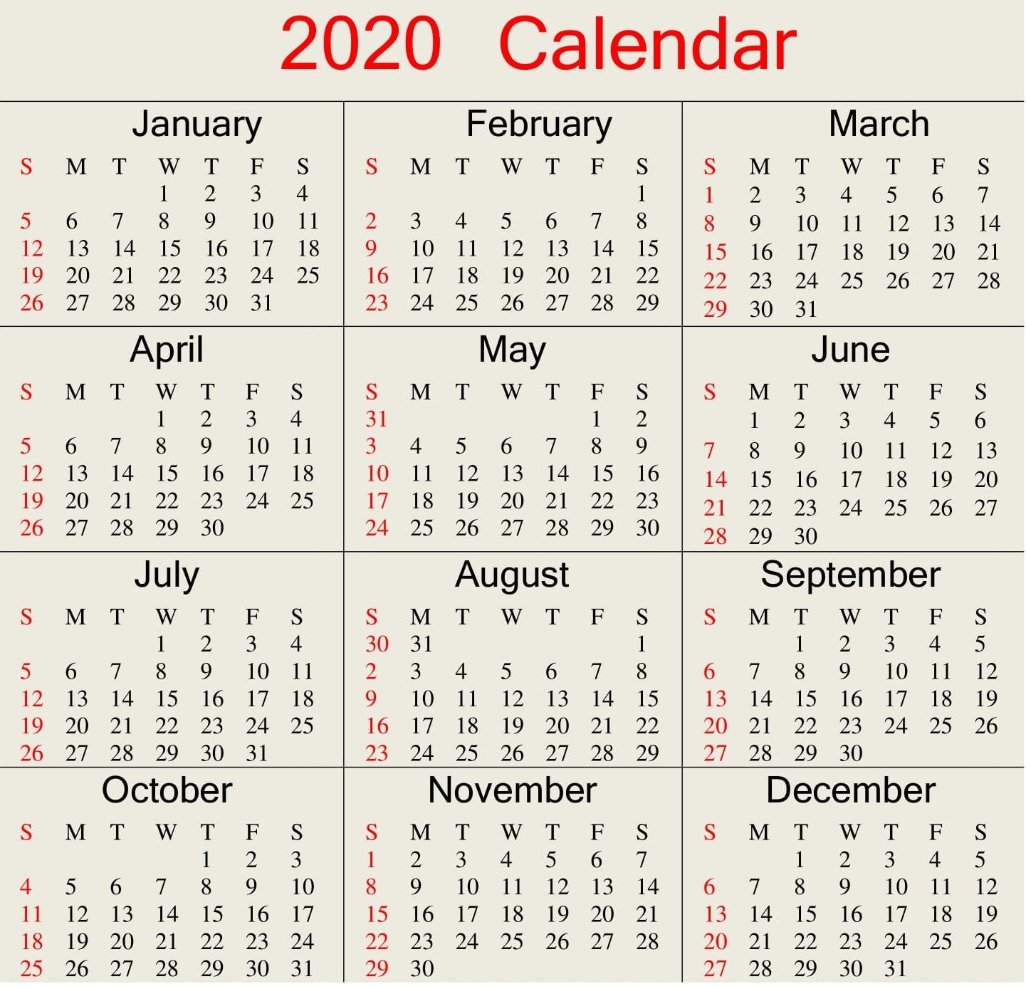 Printable 2020 Calendar Word Document - Latest Printable-Monthly Calendar With Julian Dates