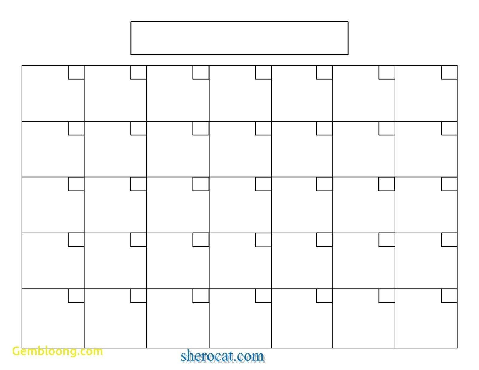 Printable Blank Calendar Template Elegant Blank Calendar-Blank Calendar Grid Printable