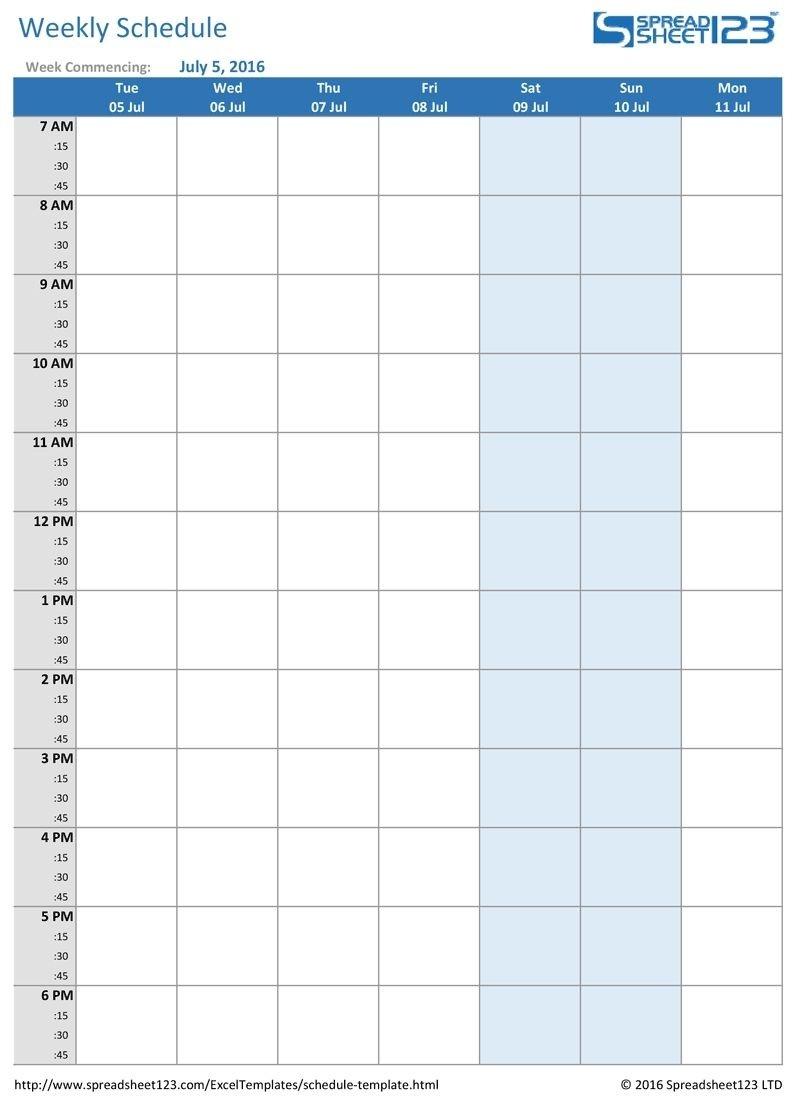 Printable Weekly And Biweekly Schedule Templates For Excel-Schedule Biweekly Templates Free Printable