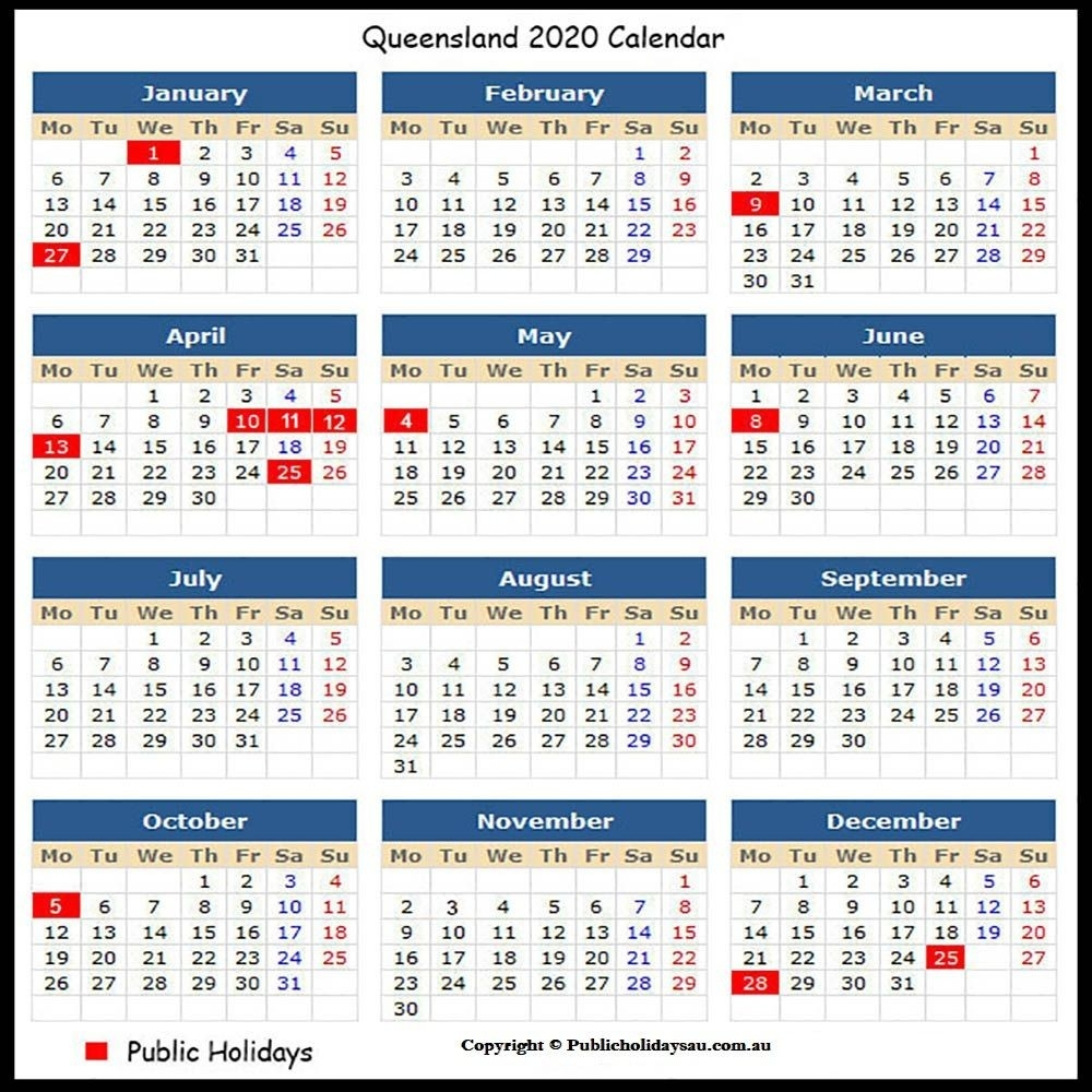 Qld Public Holidays 2020: It Is Always The Better Choice To-Sa Calendar With Public Holidays 2020