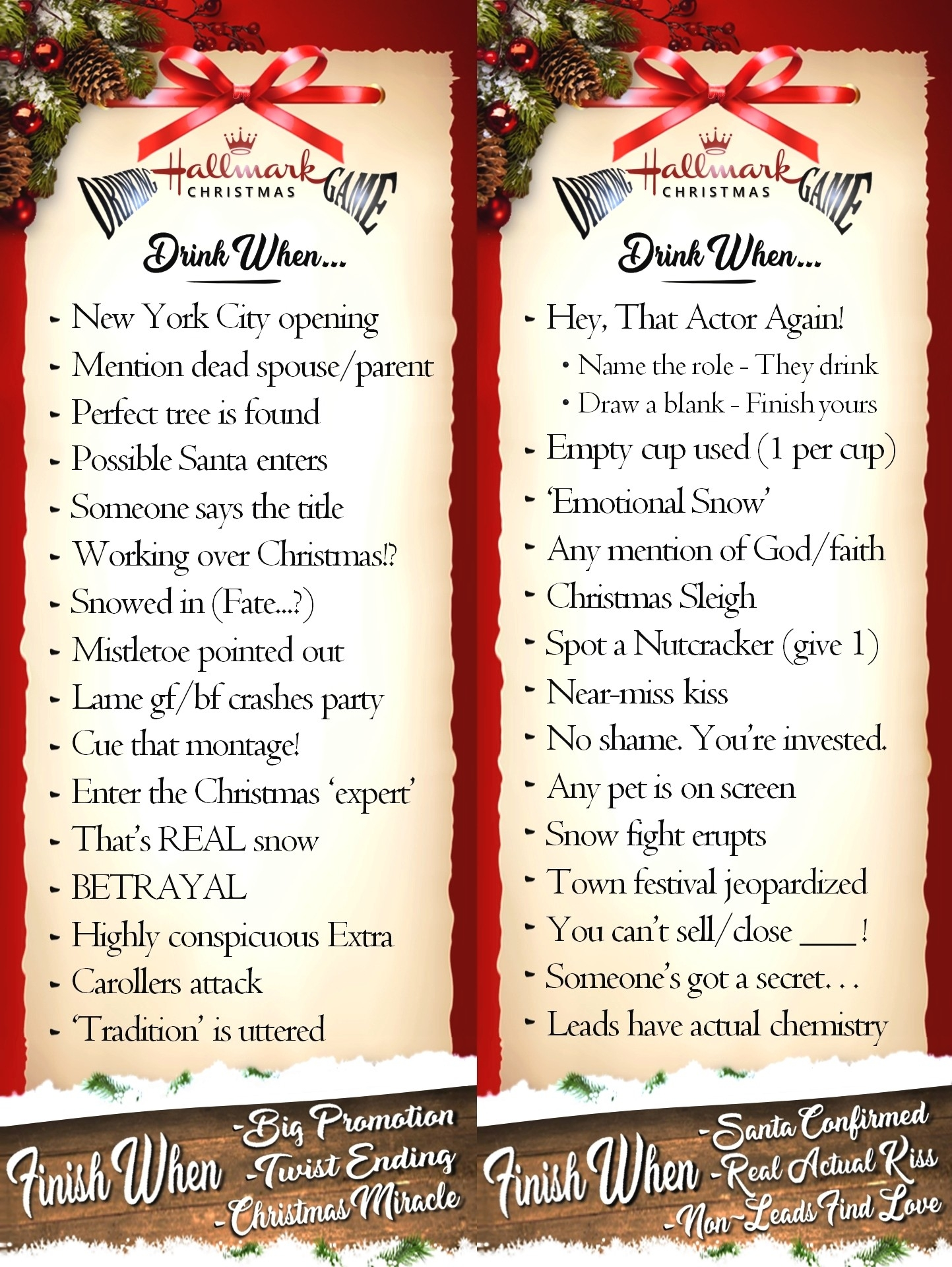 The Hallmark Christmas Movie Drinking Game Has Returned-What Are Hallmark Holidays