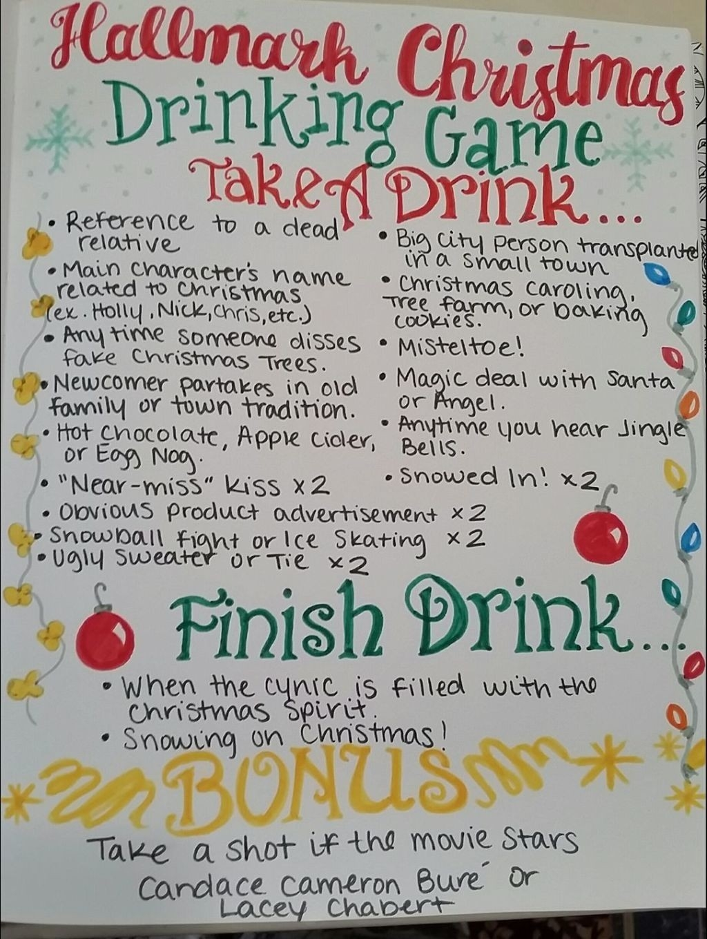 This Hallmark Christmas Movie Drinking Game Officially Wins-What Are Hallmark Holidays