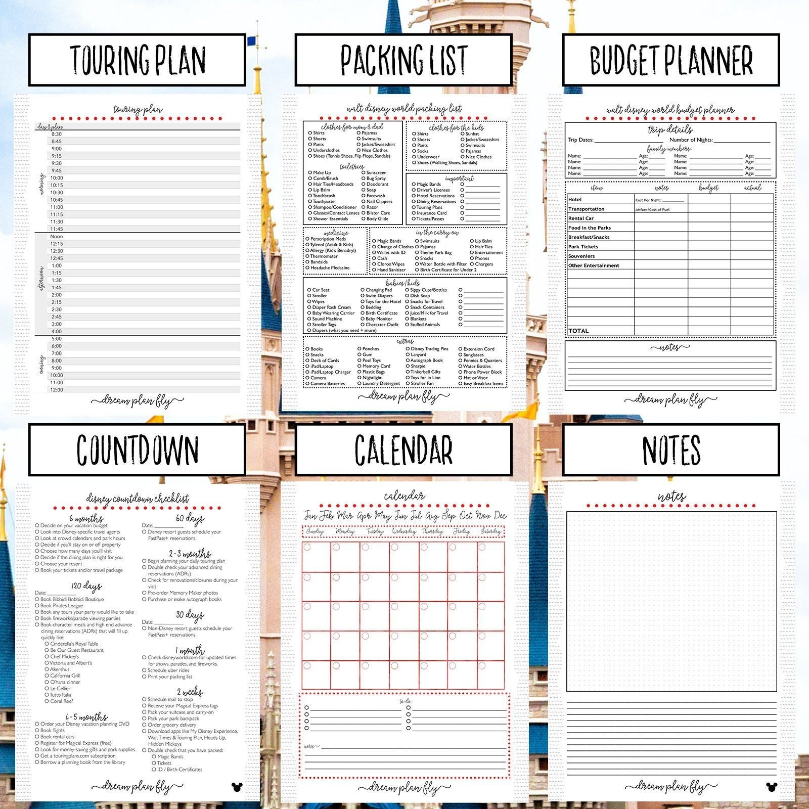 Ultimate Walt Disney World Planner - Create Your Own-Disney World Touring Template Download