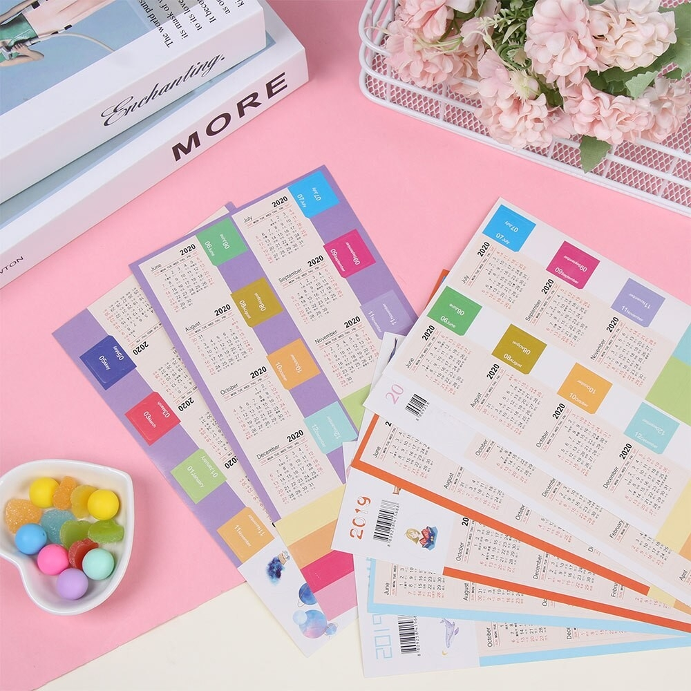 Us $0.81 7% Off 2 Sets 2020 Monthly Calendar Sticker Diary Planner Notebook  Decor Scrapbook Decorative Stickers Index Label Schedule-Notebook With Monthly Calendar