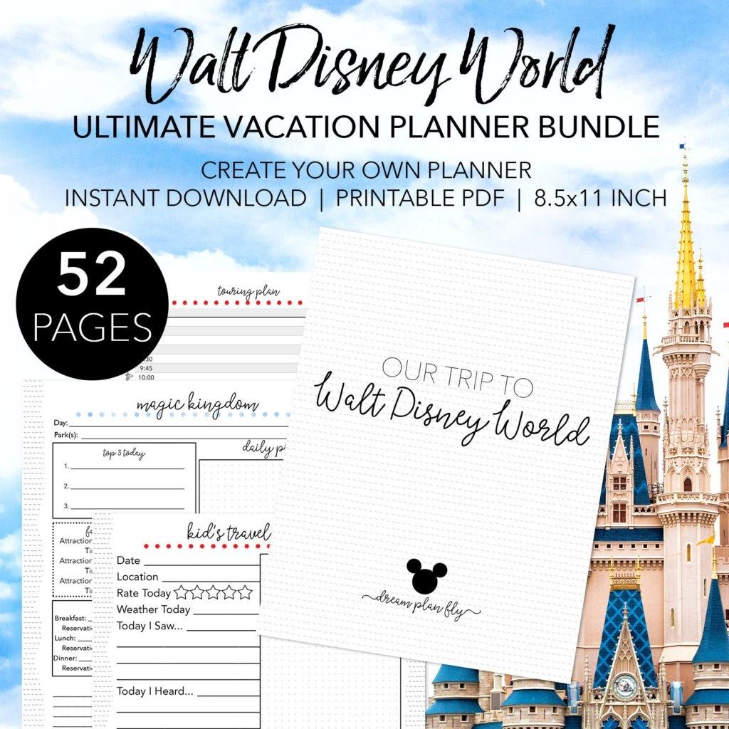 Walt Disney World Touring Plan Spreadsheet - Dream Plan Fly-Disney World Touring Template Download