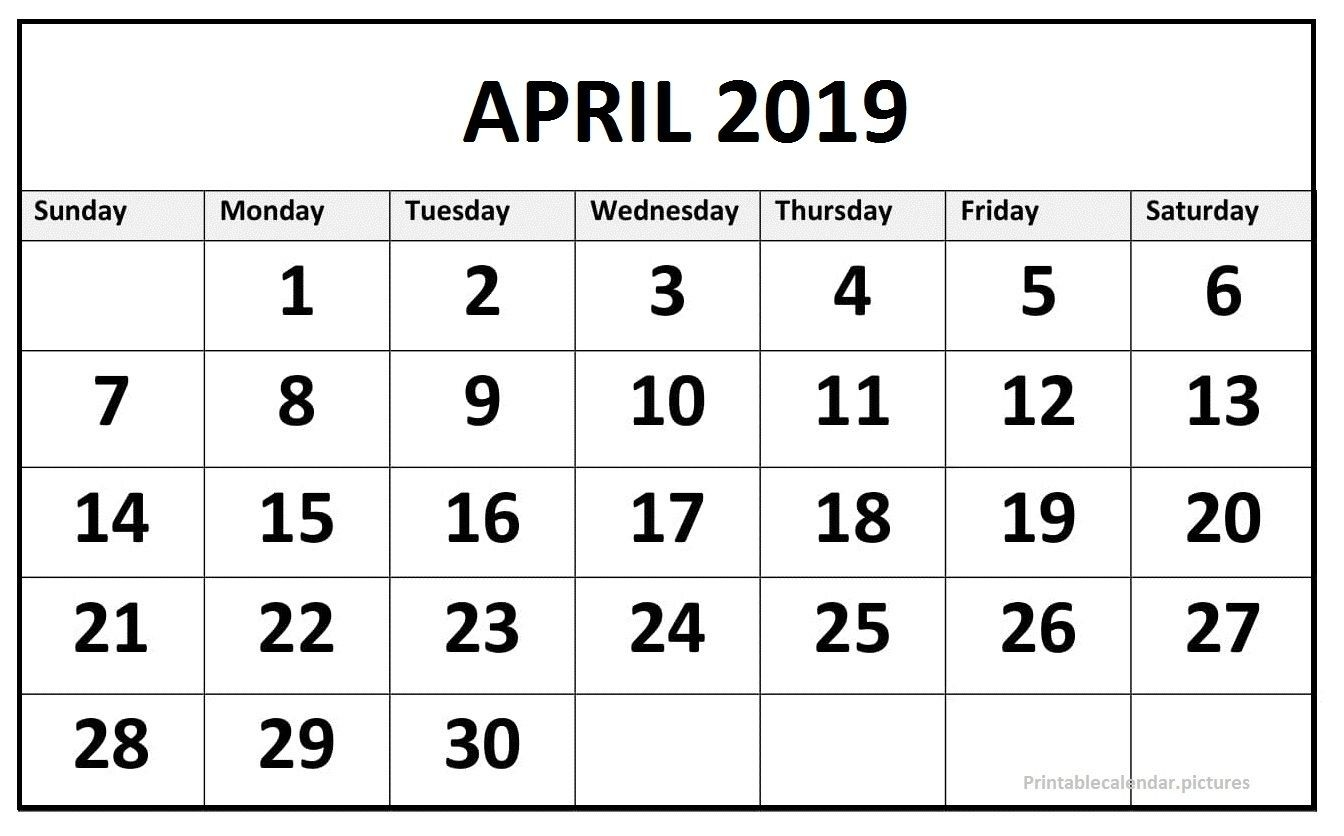 159 Best April 2019 Calendar Images | 2019 Calendar-Blankcalendar Week Of 7/22