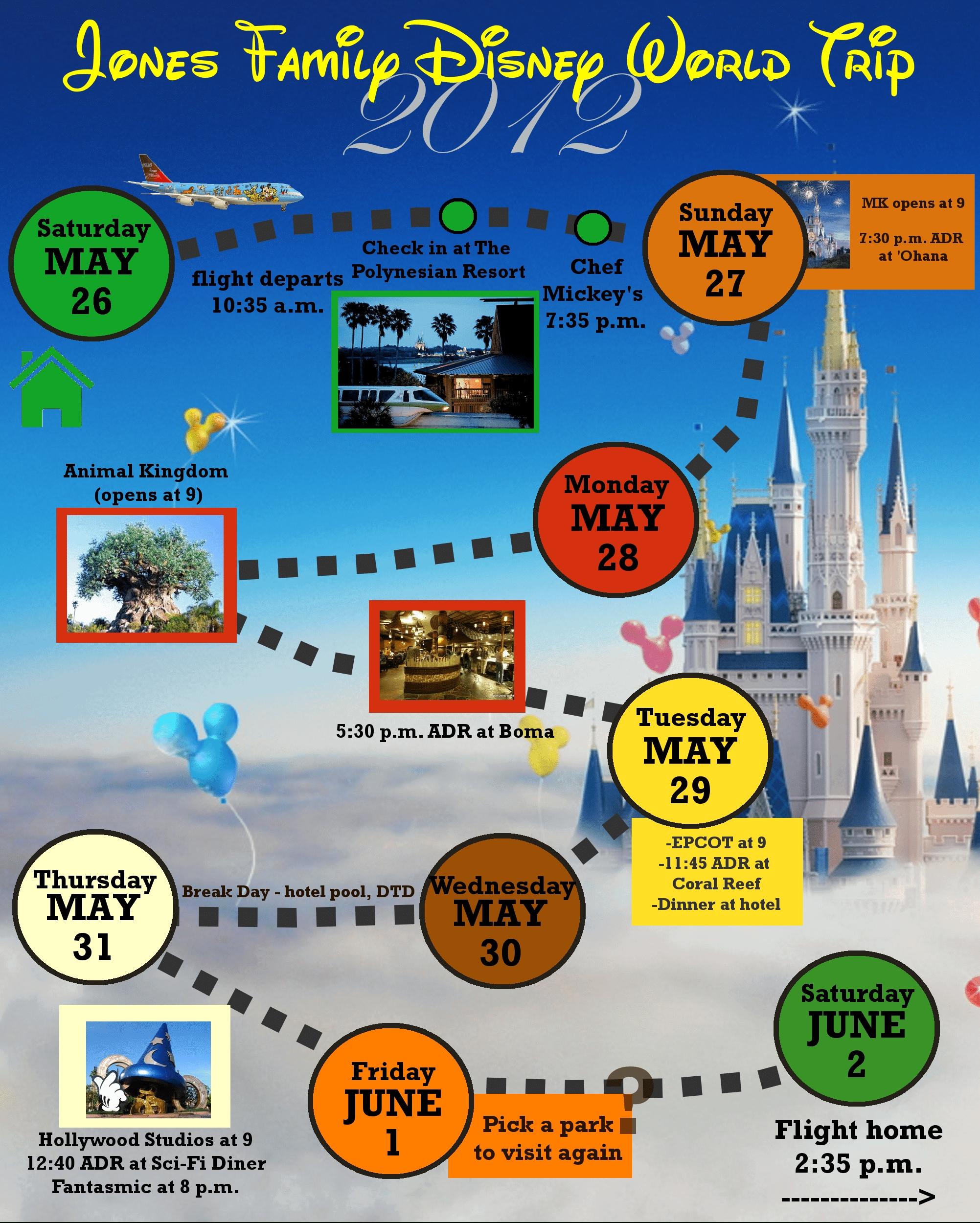 2 Custom Disney World Itinerary Templates | Wdw Prep School-Disney World Blank Itinerary Template