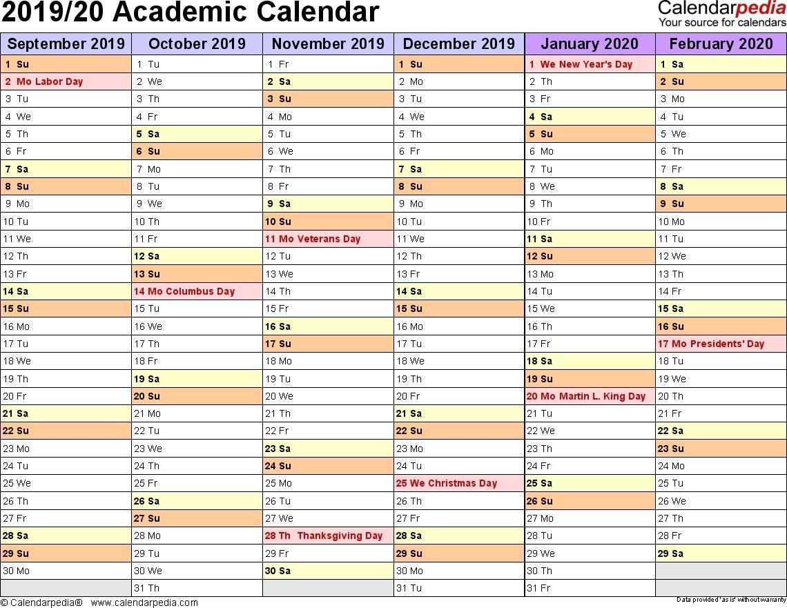 2020 Academic Calendar Template – Urgup.ewrs2018-Printable-School Year Calendar 2020-20 Template