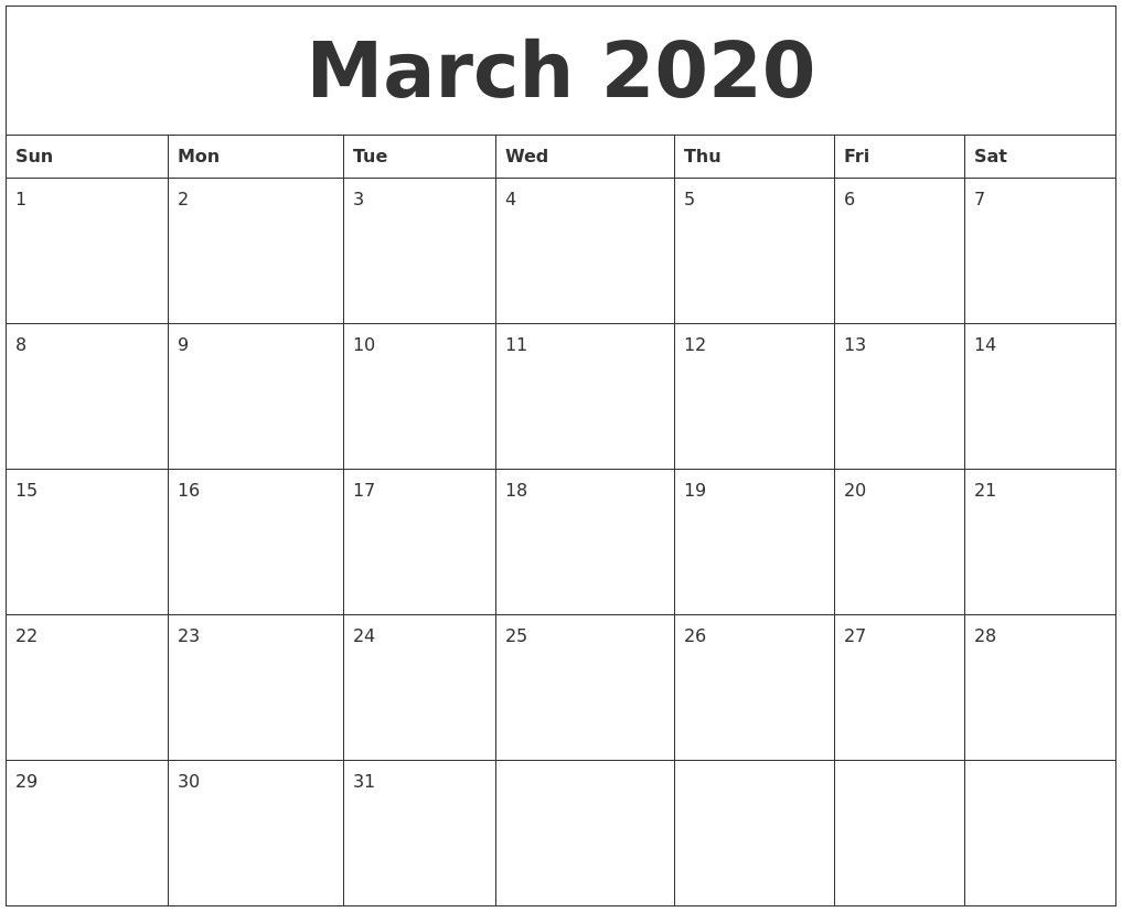 2020 Printable Calendar Word In 2020 (With Images) | Blank-2020 Printable Microsoft Word Calendar Template