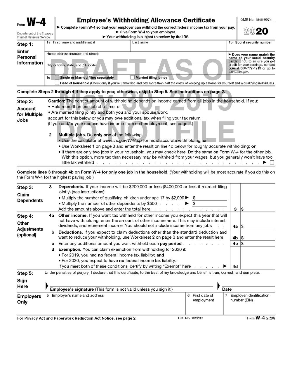 2020 W9 Blank Tax Form | Example Calendar Printable (With-2020 W9 Blank Tax Form