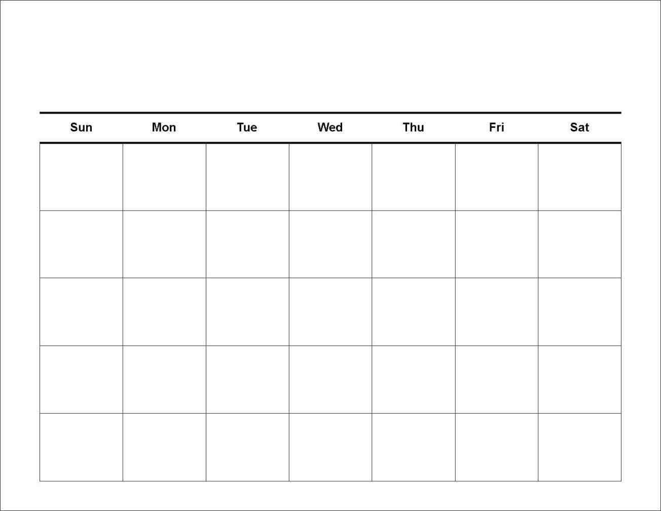 7 Day Week Calendar Template | Free Calendar Template Example-Blank 7 Day Calendar Template