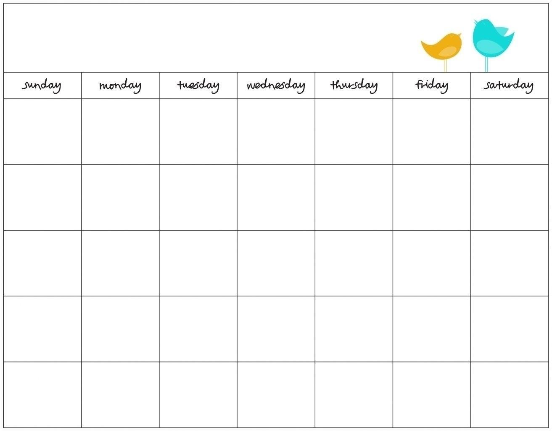 7 Day Week Calendar Template | Free Calendar Template Example-Seven Day Calendar Schedule Template