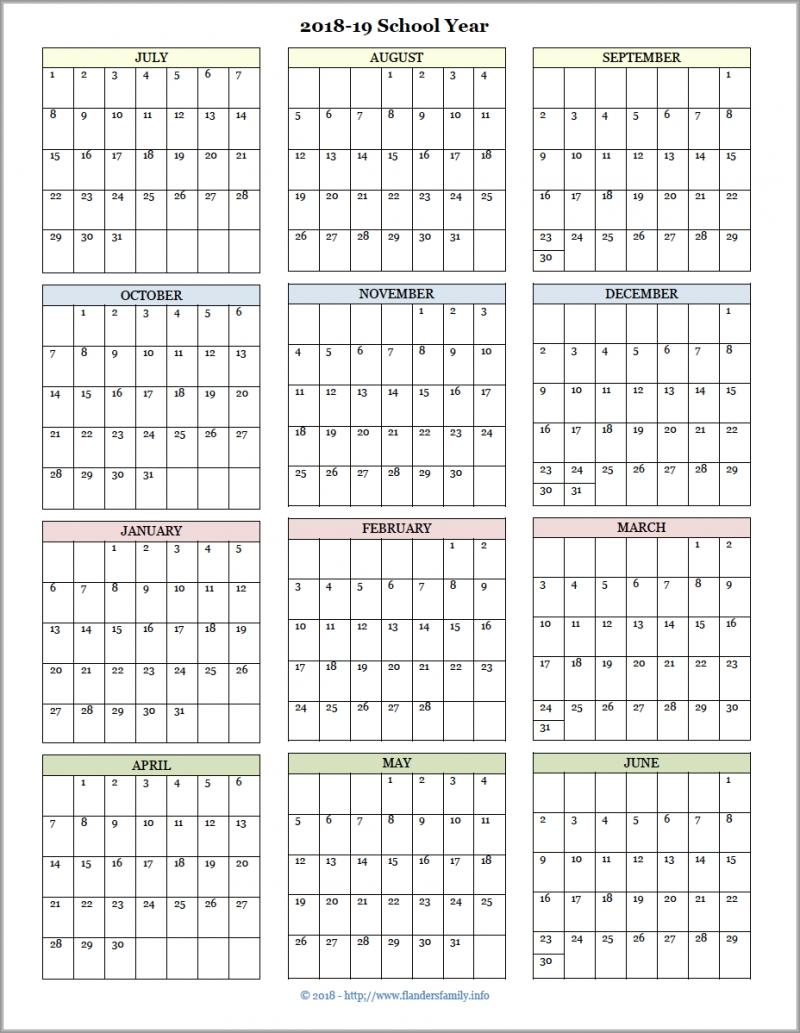 Academic Calendars For 2018-19 School Year (Free Printable-Blank Academic Week By Week Calendar