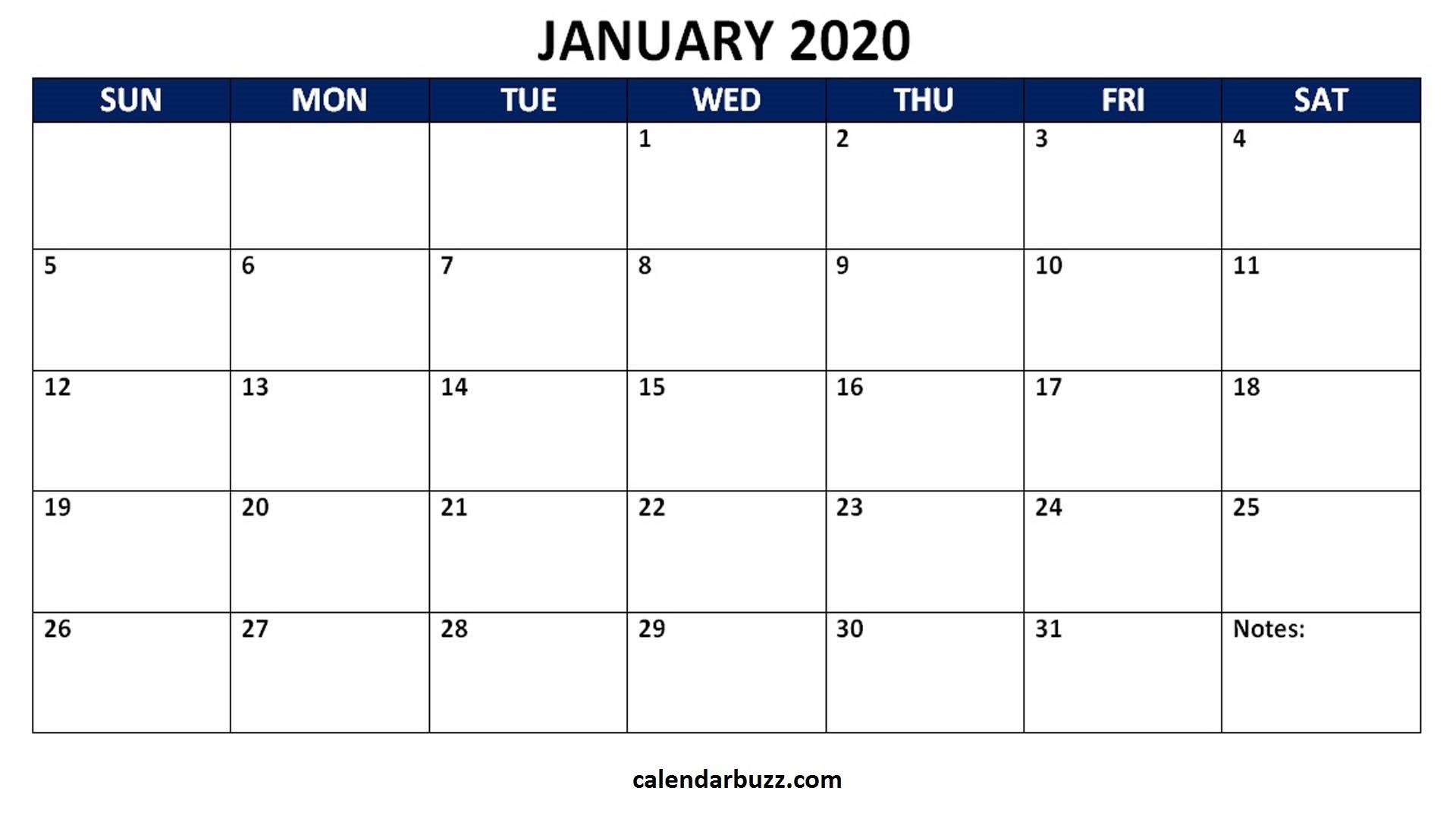 Blank 2020 Calendar Printable Monthly Word Templates-2020 Printable Microsoft Word Calendar Template