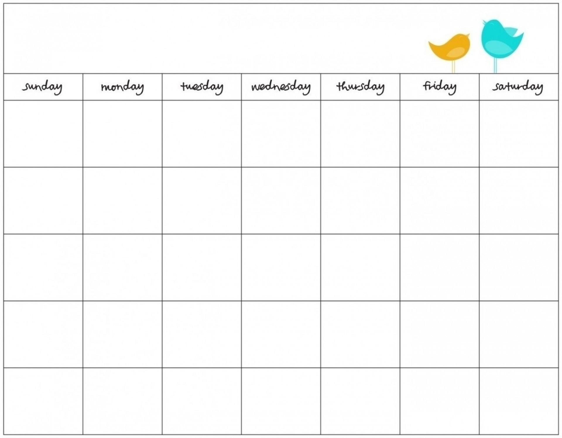 Blank 7 Day Calendar To Print | Free Calendar Template Example-Blank 7 Day Calendar Template
