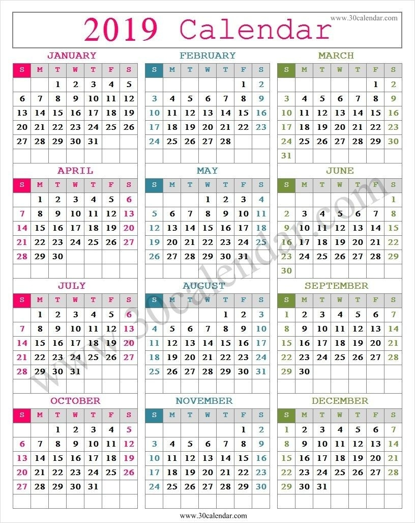 Cute 2019 Calendar Printable (With Images) | Calendar-Blankcalendar Week Of 7/22