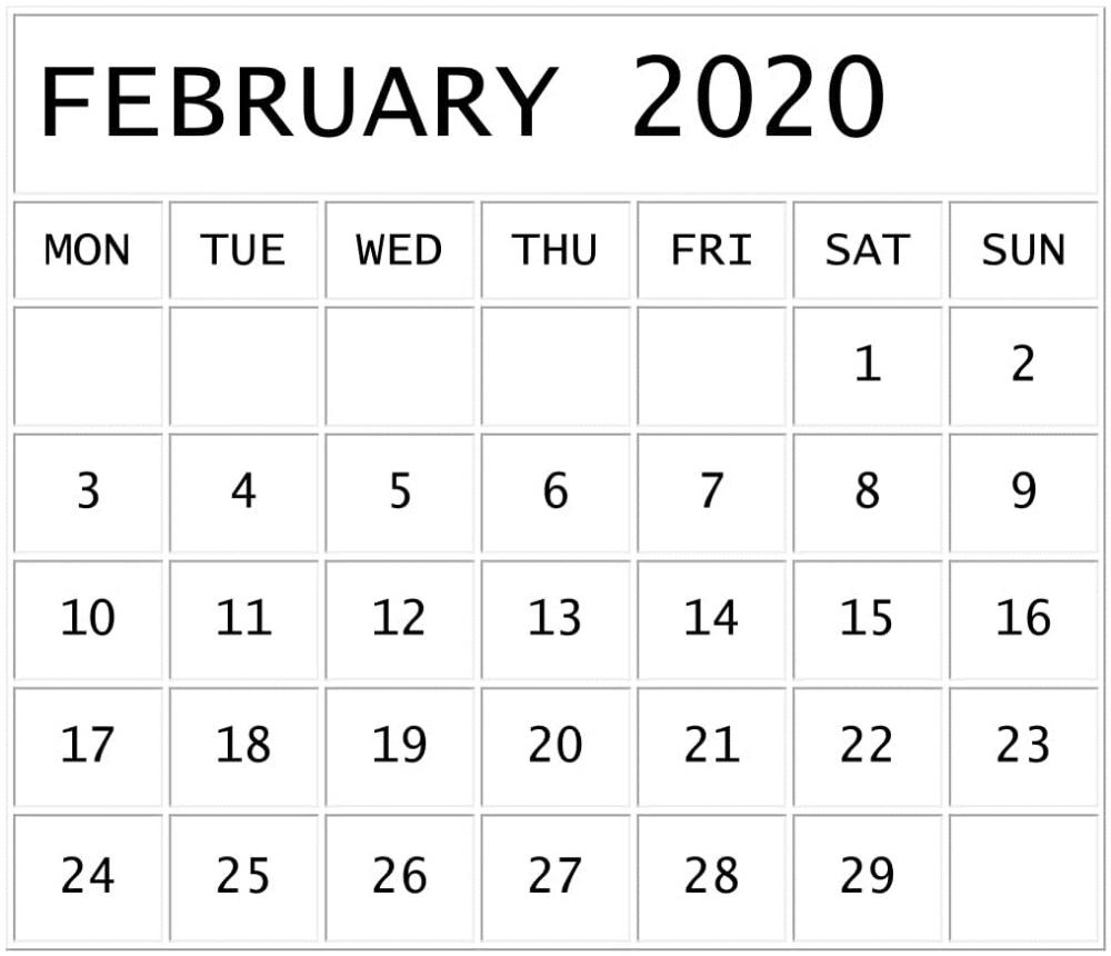 February 2020 Calendar Template Google Sheets Format | 2020-Google Sheets Calendar Template 2020