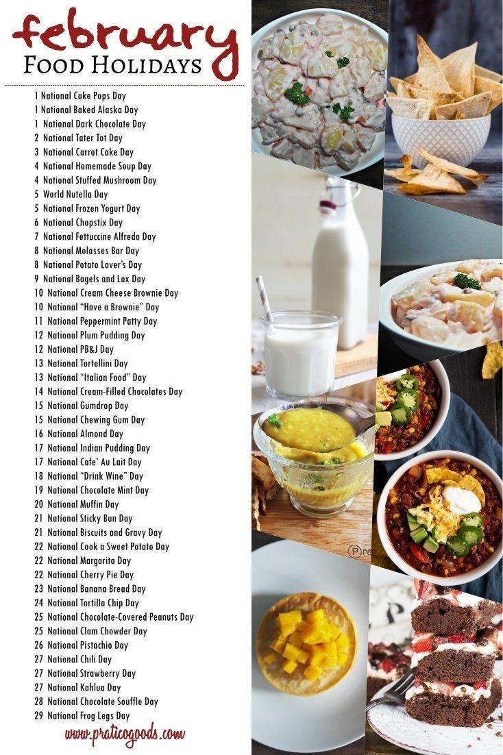 February Food Holidays In 2020   Holiday Recipes, Food-Fun National Food Holidays 2020 Calendar