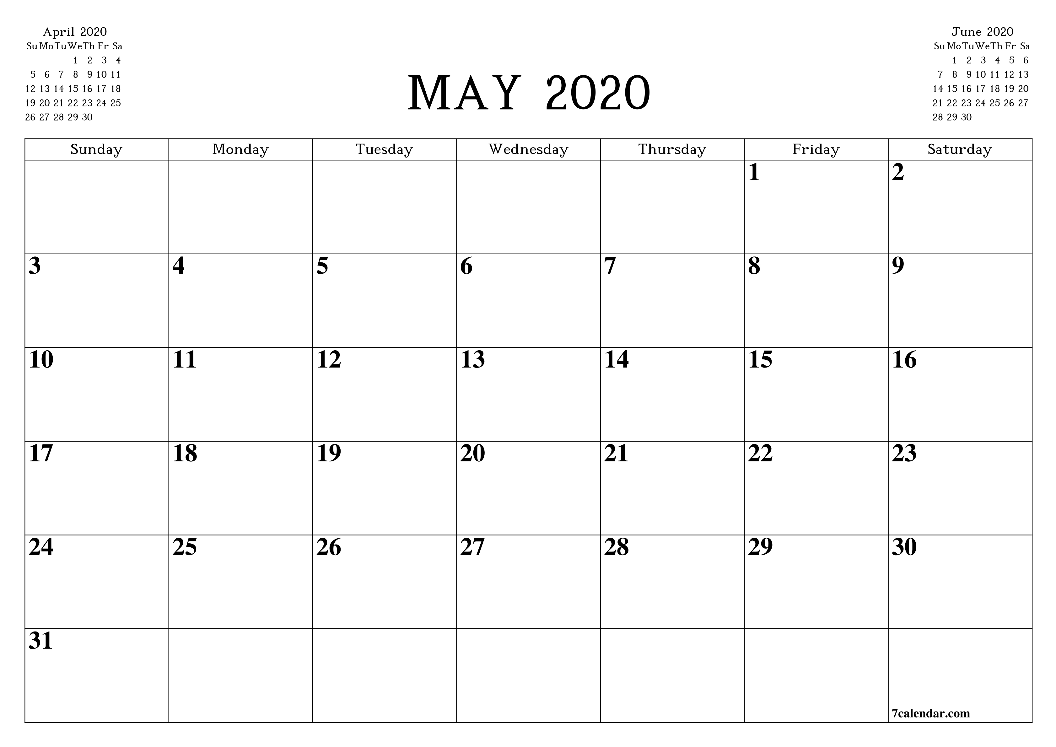 Free Printable Blank Monthly Calendar And Planner For May-Legal Size Calendar Template