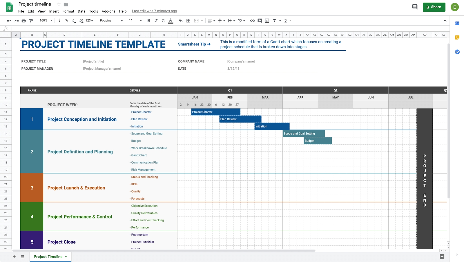 How To Create A Calendar In Google Docs | Copper-Calendar Template For Google Sheets