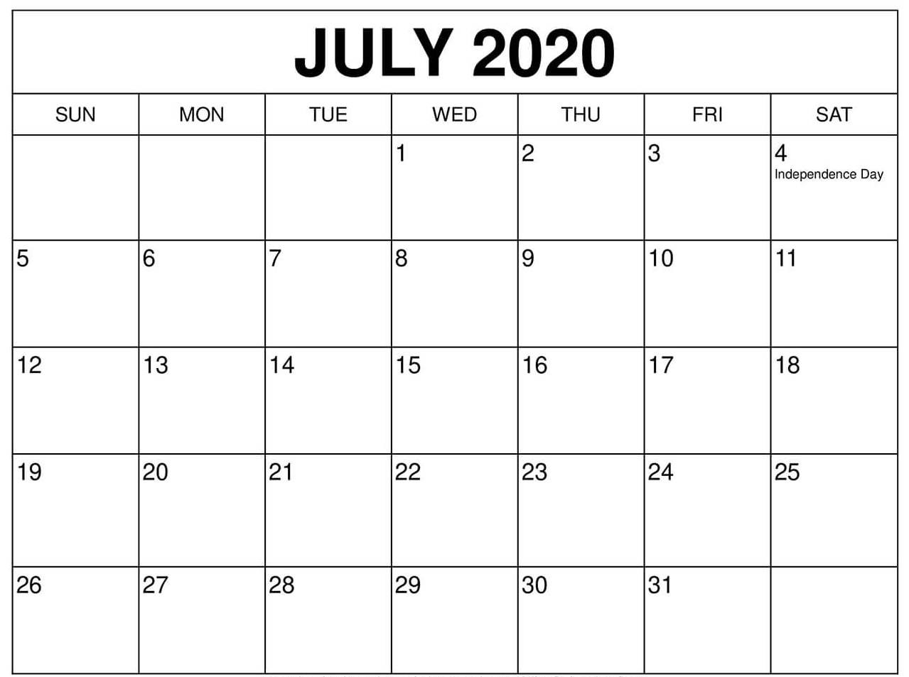 July 2020 Calendar Us Printable With Federal Holidays - Web-Nz School Holidays 2020
