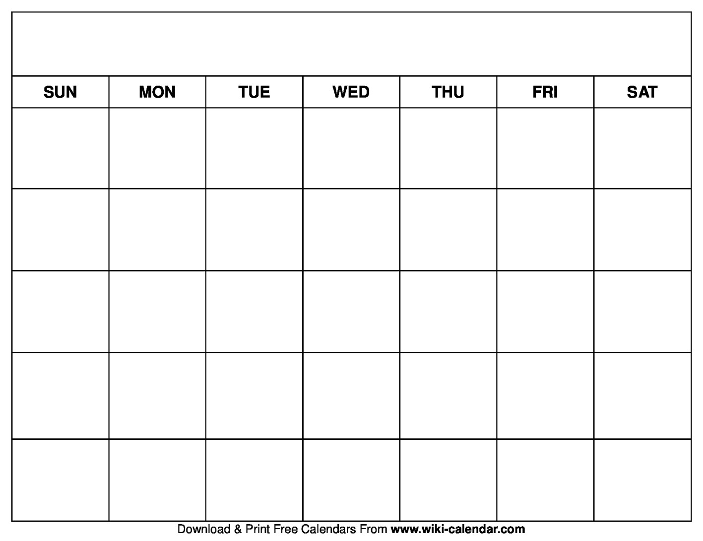 Printable Blank Calendar Templates-Fre Printable Blank Calander Monthly Pages